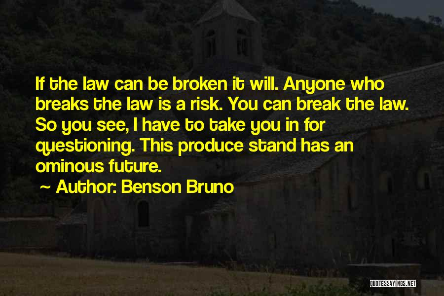 The Future Funny Quotes By Benson Bruno