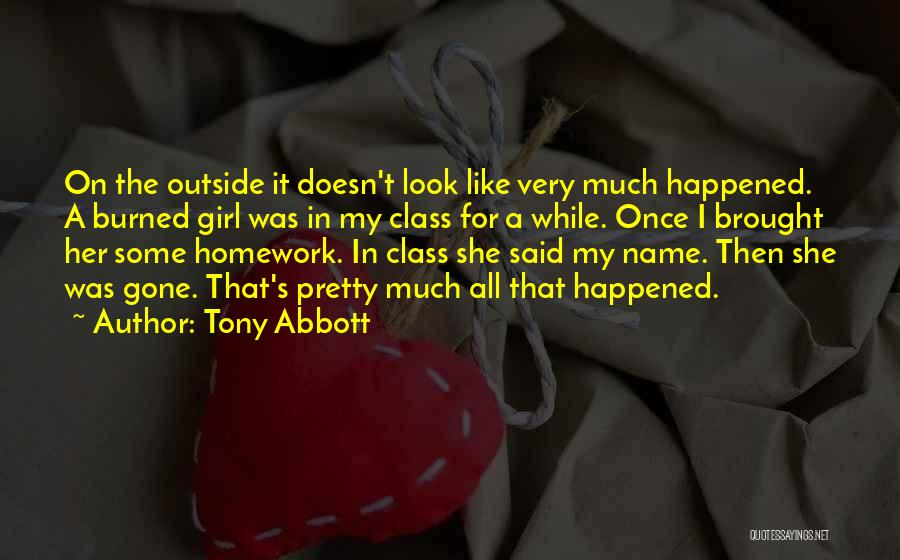 The Gone Girl Quotes By Tony Abbott