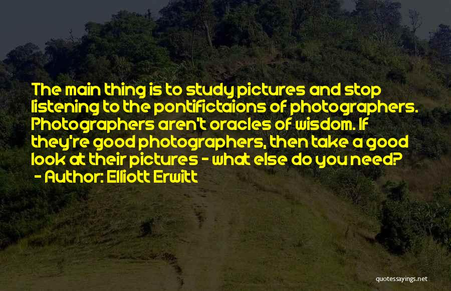 The Good You Do Quotes By Elliott Erwitt