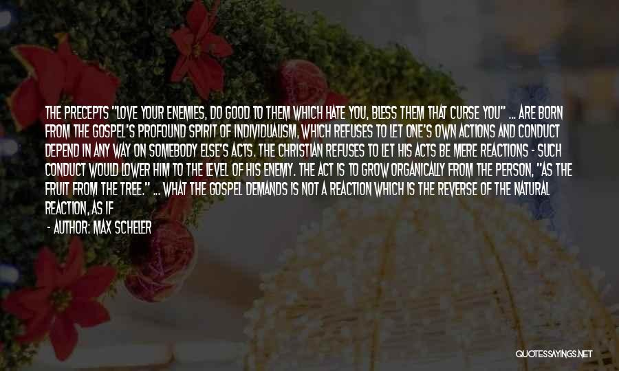 The Good You Do Quotes By Max Scheler