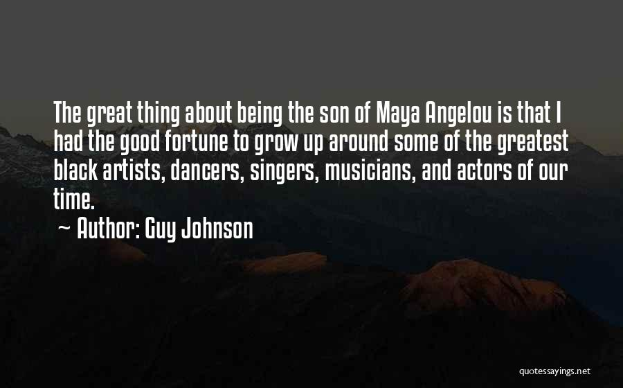 The Great Good Thing Quotes By Guy Johnson