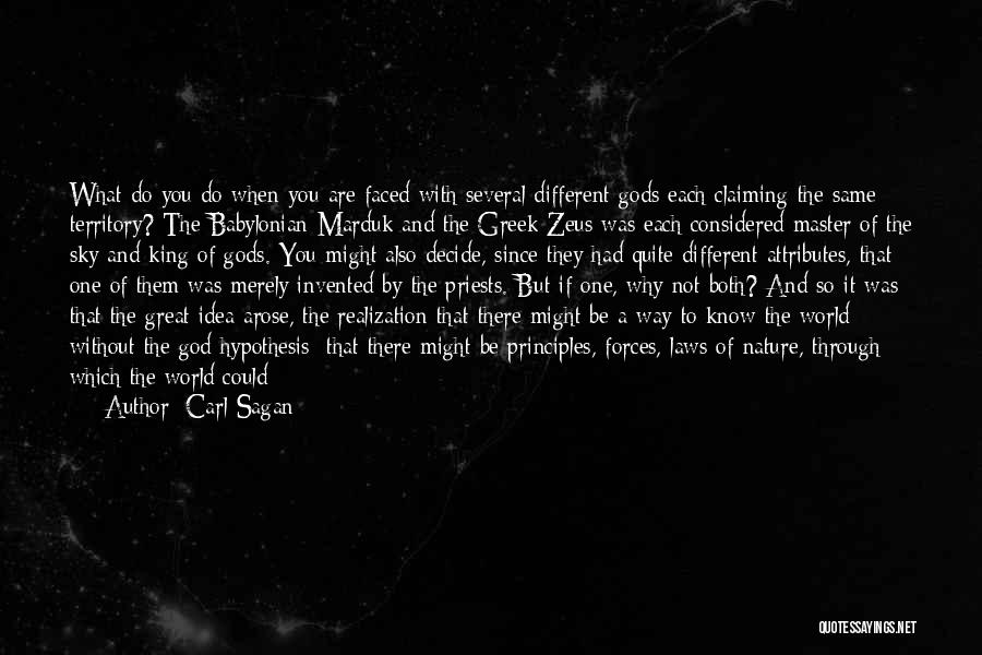 The Greek Gods Quotes By Carl Sagan