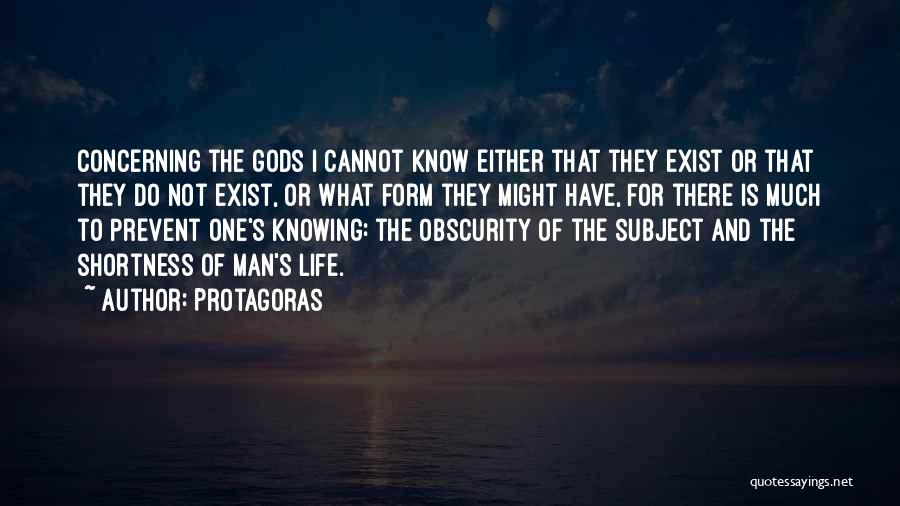 The Greek Gods Quotes By Protagoras