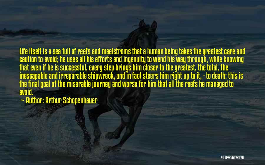 The Journey Of Death Quotes By Arthur Schopenhauer