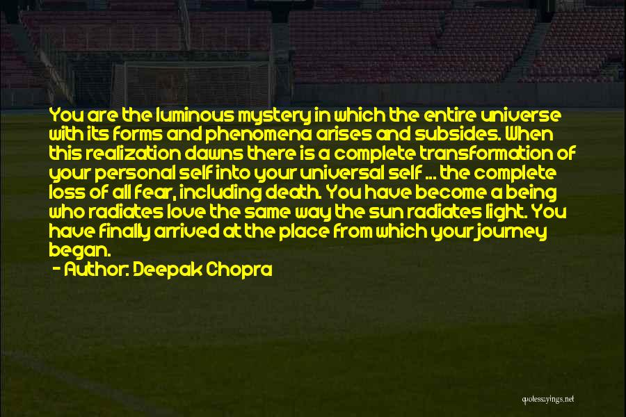 The Journey Of Death Quotes By Deepak Chopra