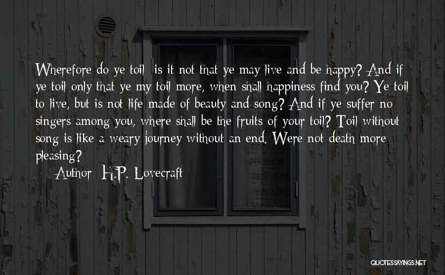 The Journey Of Death Quotes By H.P. Lovecraft