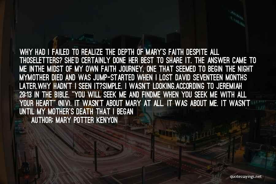 The Journey Of Death Quotes By Mary Potter Kenyon