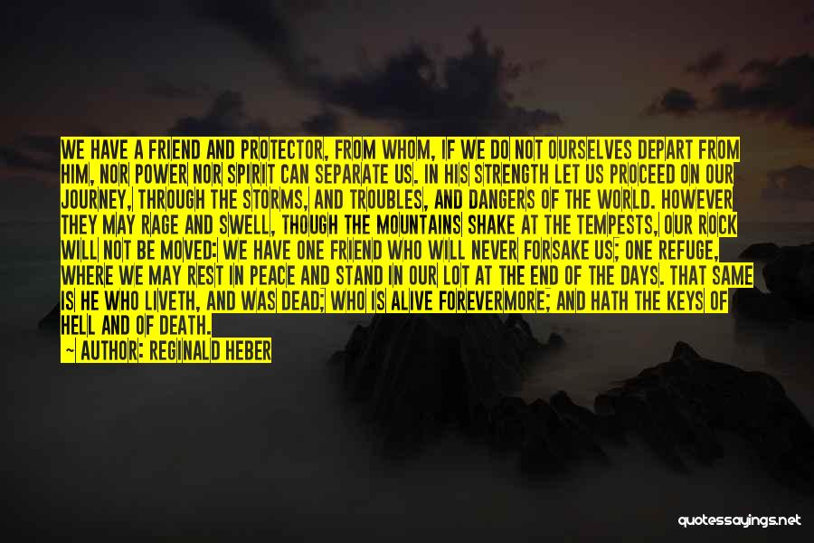 The Journey Of Death Quotes By Reginald Heber