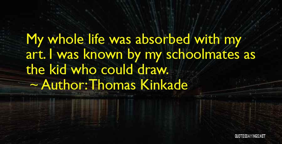 The Kid Who Quotes By Thomas Kinkade