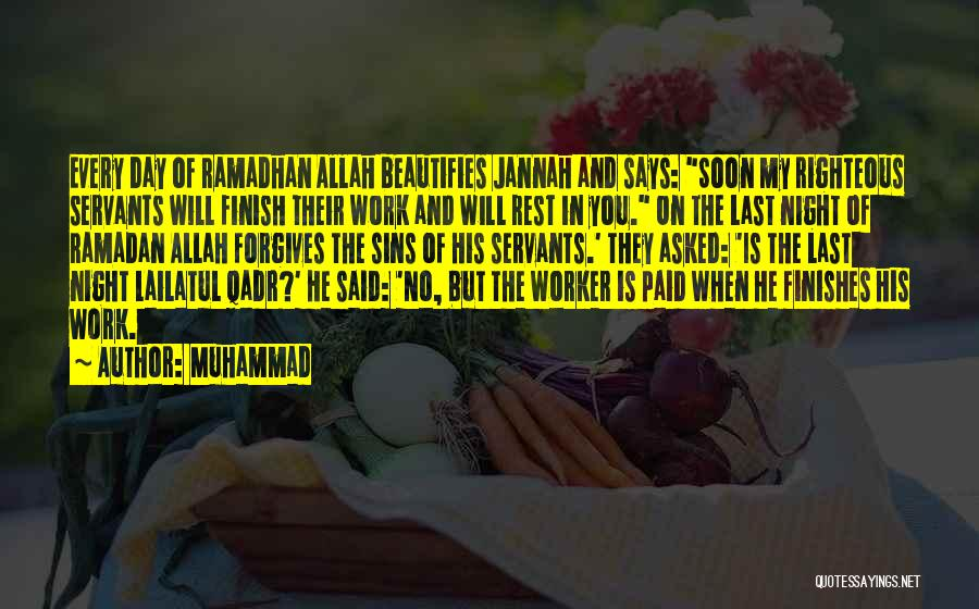 The Last Day Of Ramadan Quotes By Muhammad