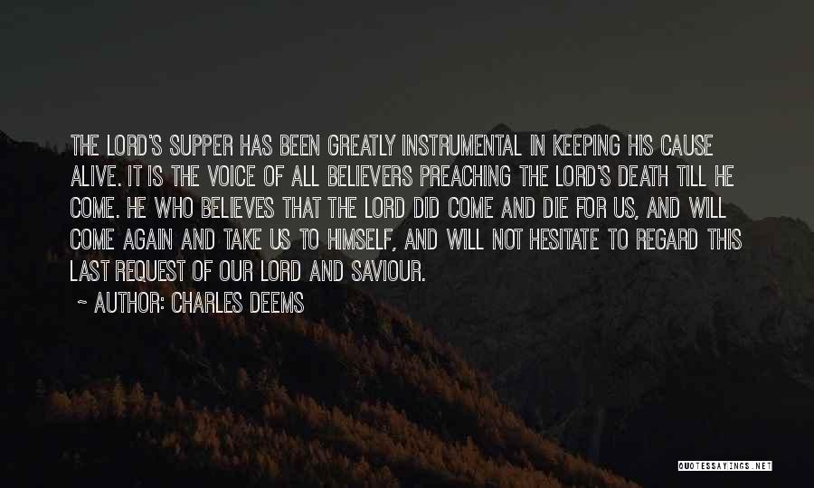 The Last Supper Quotes By Charles Deems