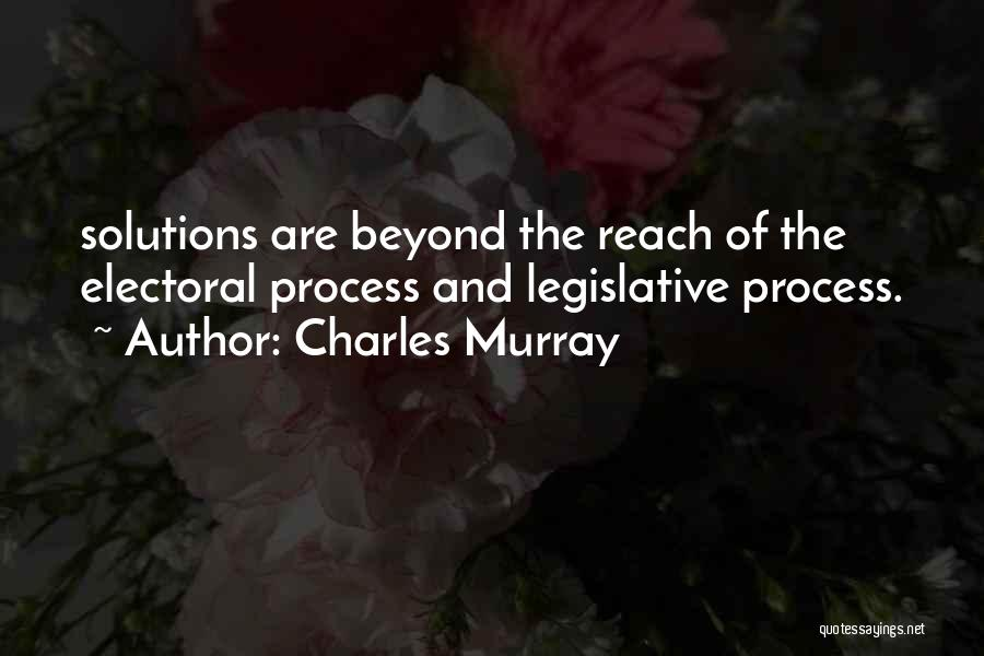 The Legislative Process Quotes By Charles Murray