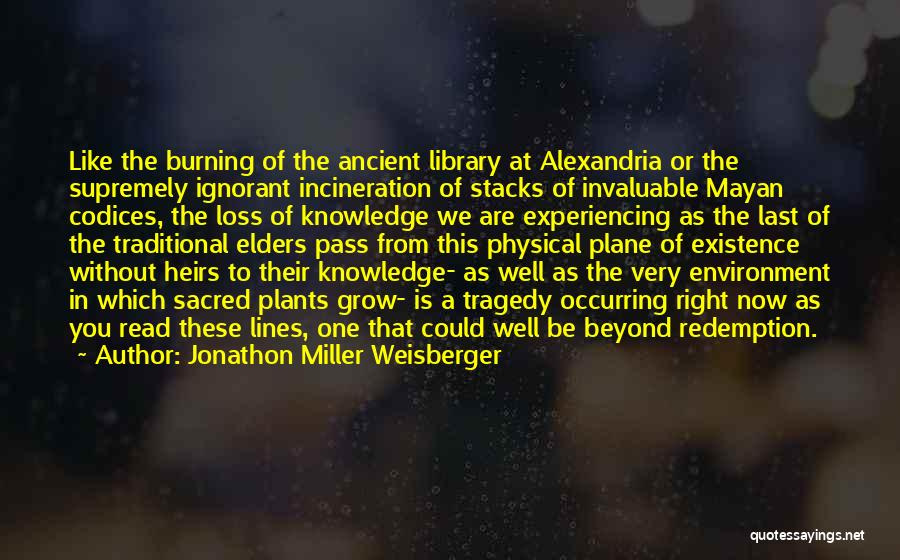 The Library Of Alexandria Quotes By Jonathon Miller Weisberger