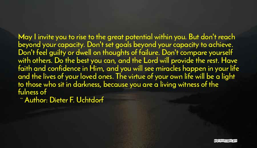 The Lord Of Light Quotes By Dieter F. Uchtdorf