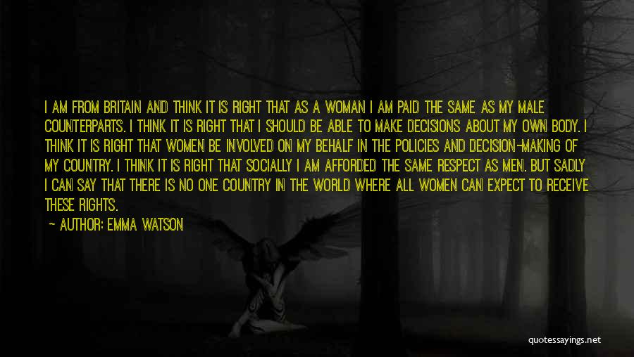 The Male Body Quotes By Emma Watson