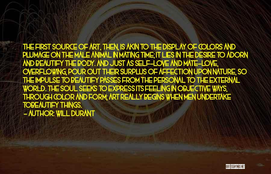 The Male Body Quotes By Will Durant