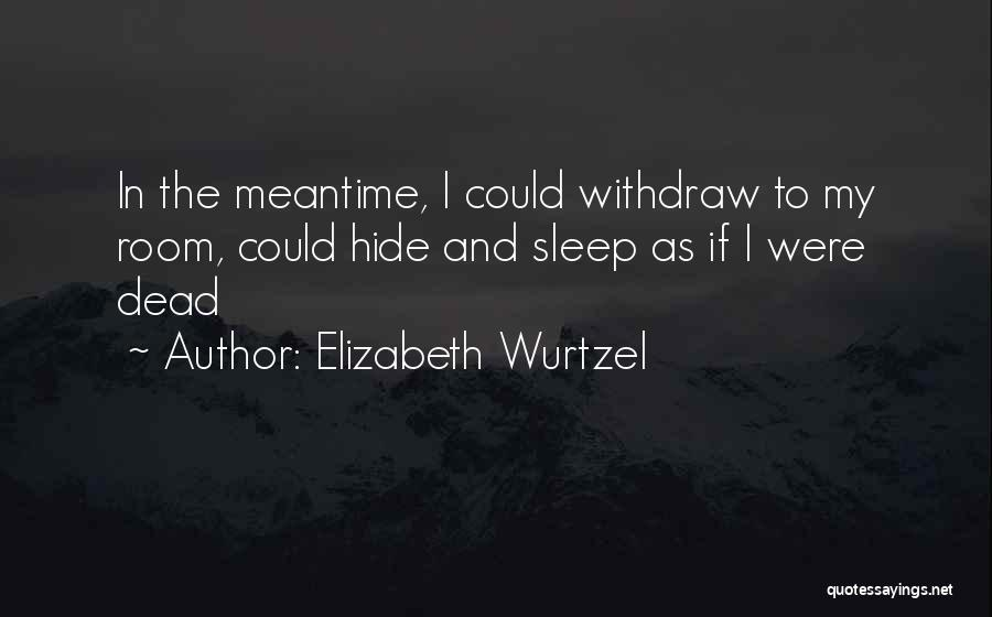 The Meantime Quotes By Elizabeth Wurtzel
