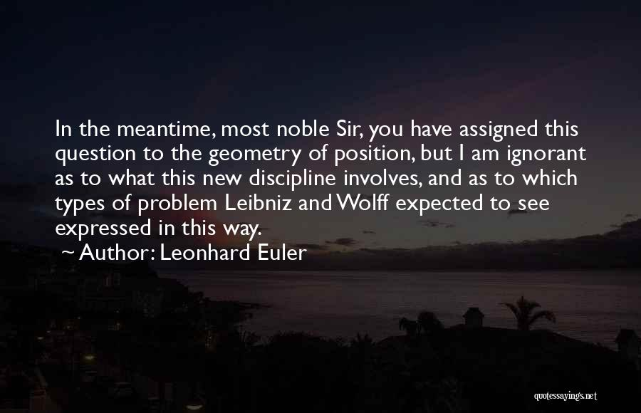 The Meantime Quotes By Leonhard Euler
