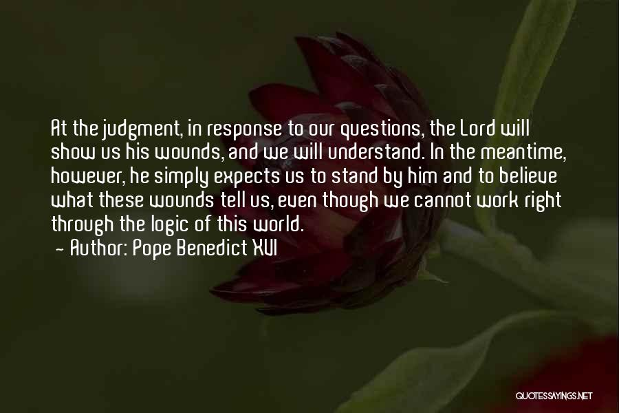 The Meantime Quotes By Pope Benedict XVI