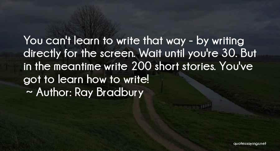 The Meantime Quotes By Ray Bradbury