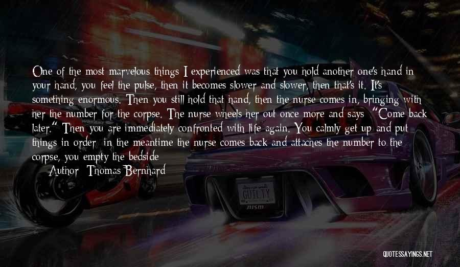 The Meantime Quotes By Thomas Bernhard