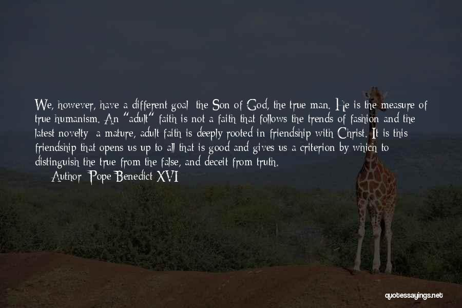 The Measure Of Friendship Quotes By Pope Benedict XVI