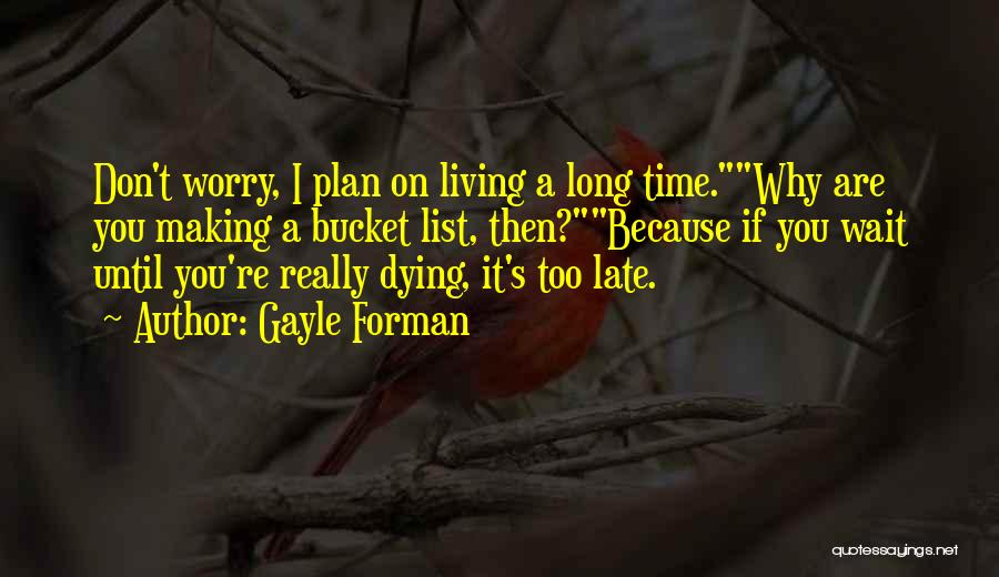 The More You Wait For Something Quotes By Gayle Forman