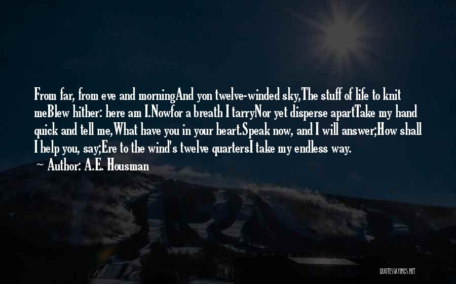 The Morning Sky Quotes By A.E. Housman