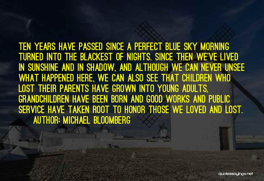 The Morning Sky Quotes By Michael Bloomberg