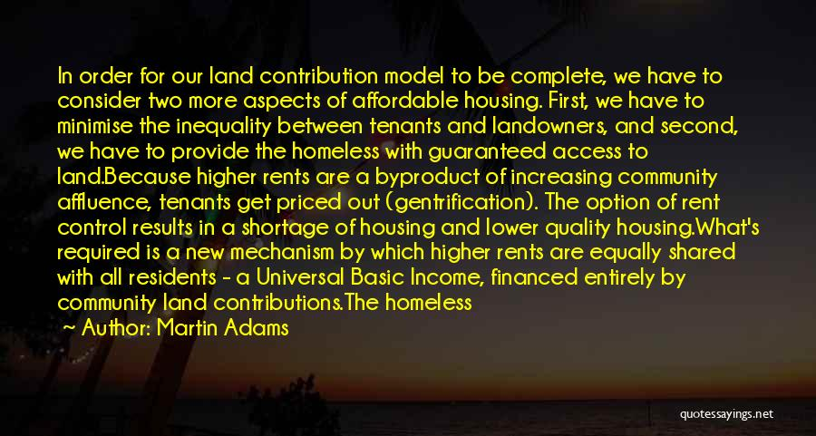 The New Tenants Quotes By Martin Adams