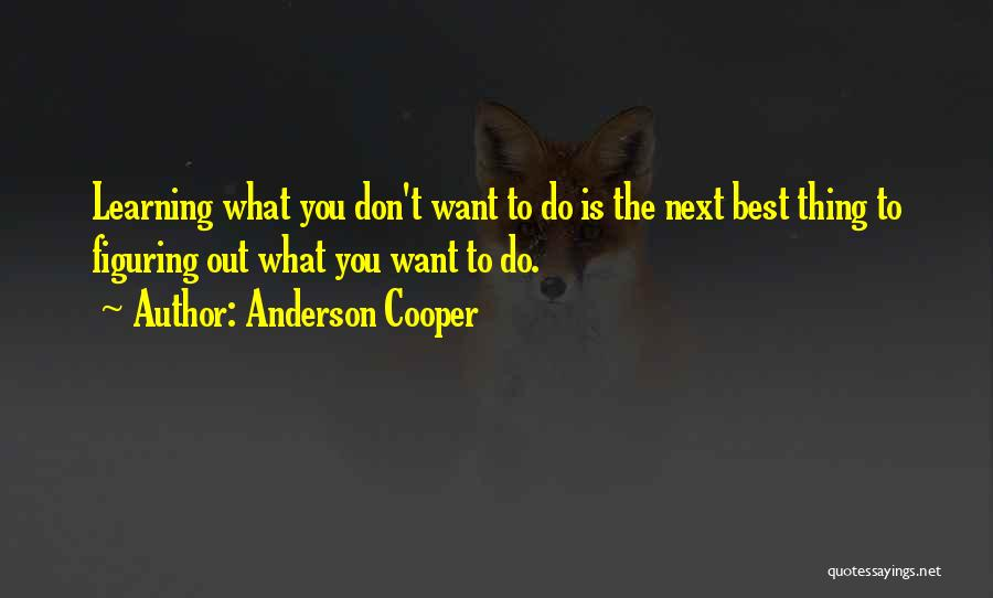 The Next Best Thing Quotes By Anderson Cooper
