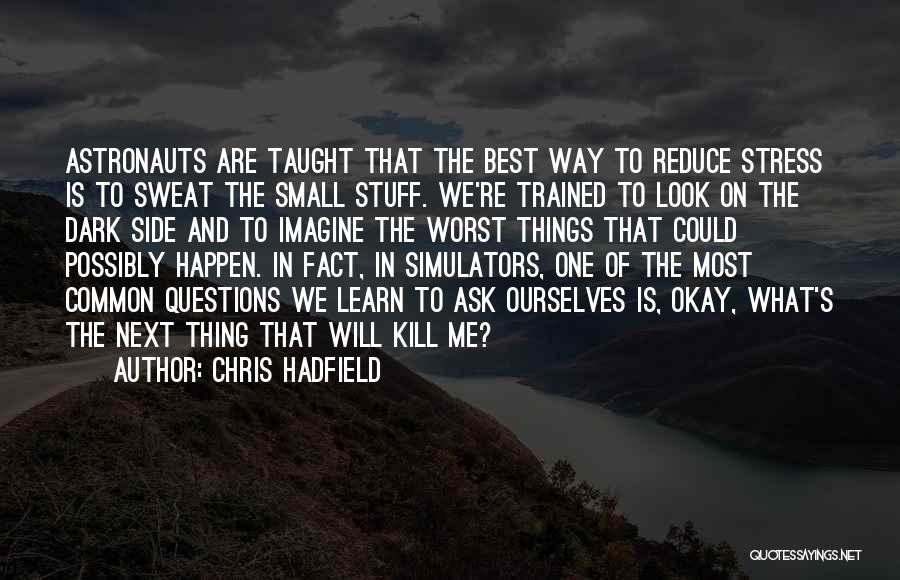 The Next Best Thing Quotes By Chris Hadfield