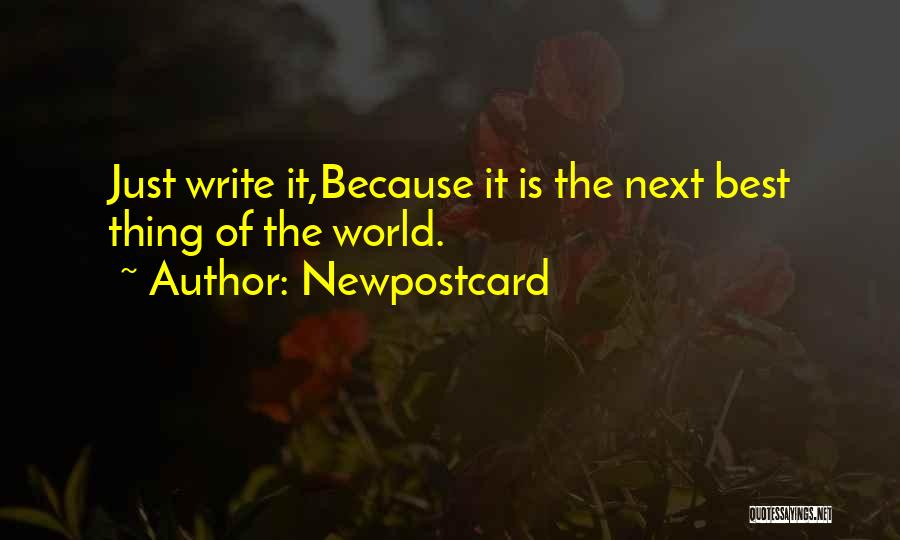 The Next Best Thing Quotes By Newpostcard