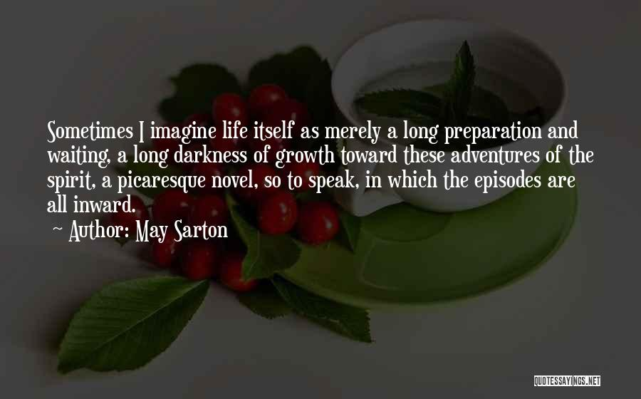The Novel Speak Quotes By May Sarton