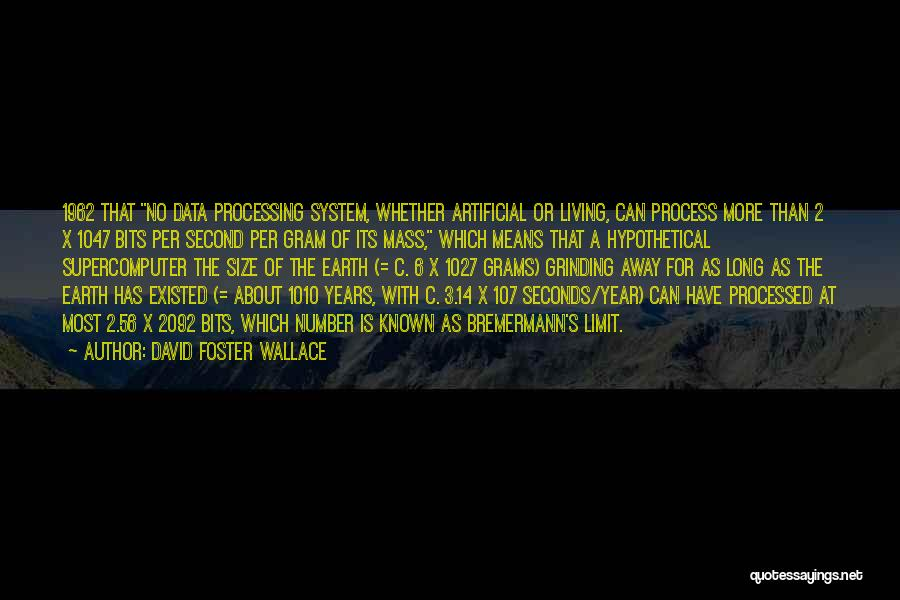 The Number 3 Quotes By David Foster Wallace