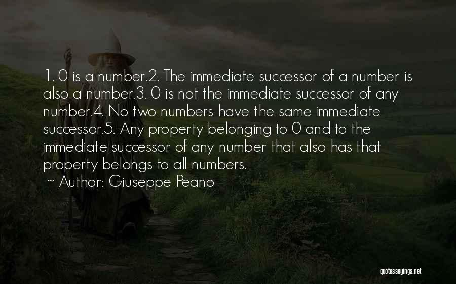 The Number 3 Quotes By Giuseppe Peano