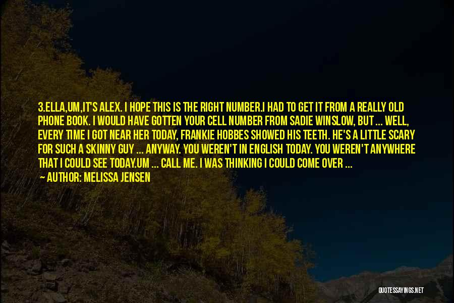 The Number 3 Quotes By Melissa Jensen