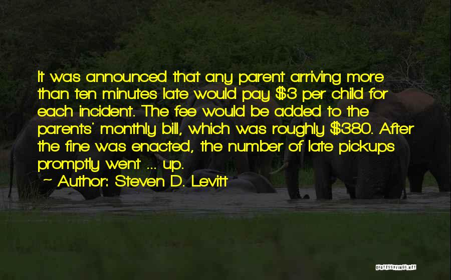 The Number 3 Quotes By Steven D. Levitt