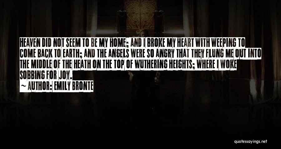 The One Who Broke Your Heart Quotes By Emily Bronte