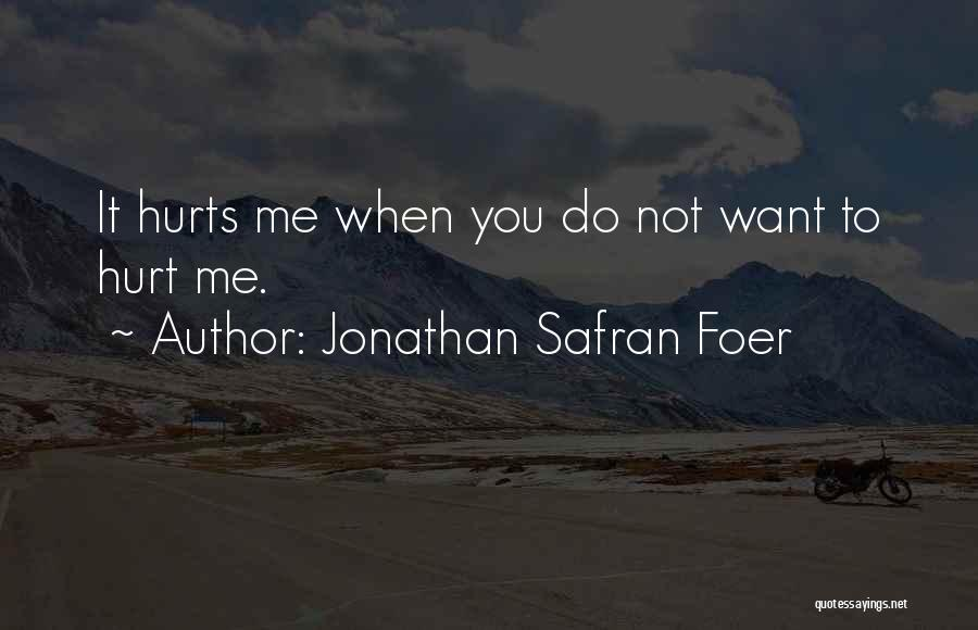 The One You Love Hurting You Quotes By Jonathan Safran Foer