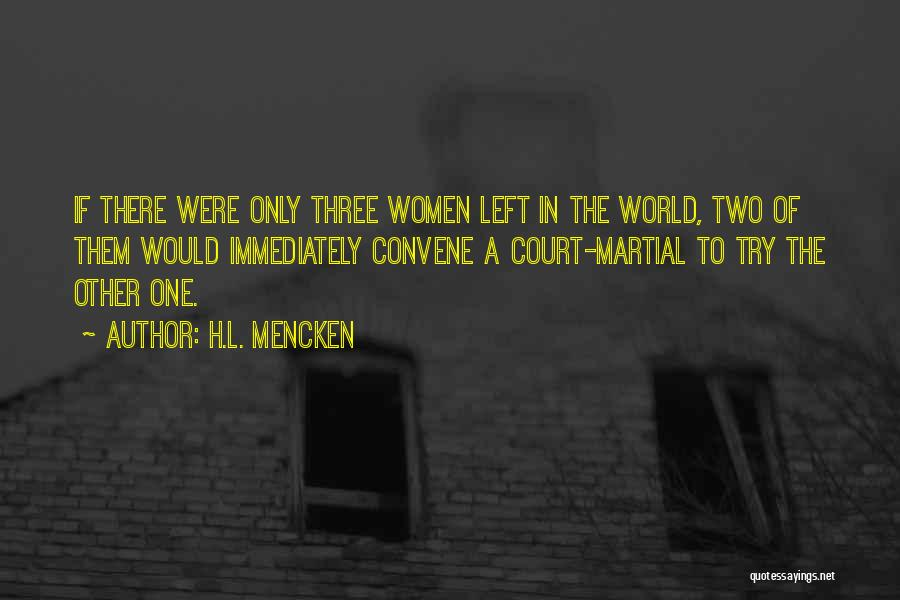 The Only One Trying Quotes By H.L. Mencken