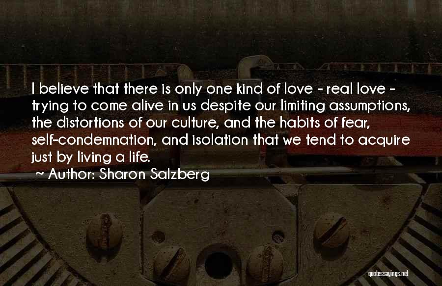 The Only One Trying Quotes By Sharon Salzberg