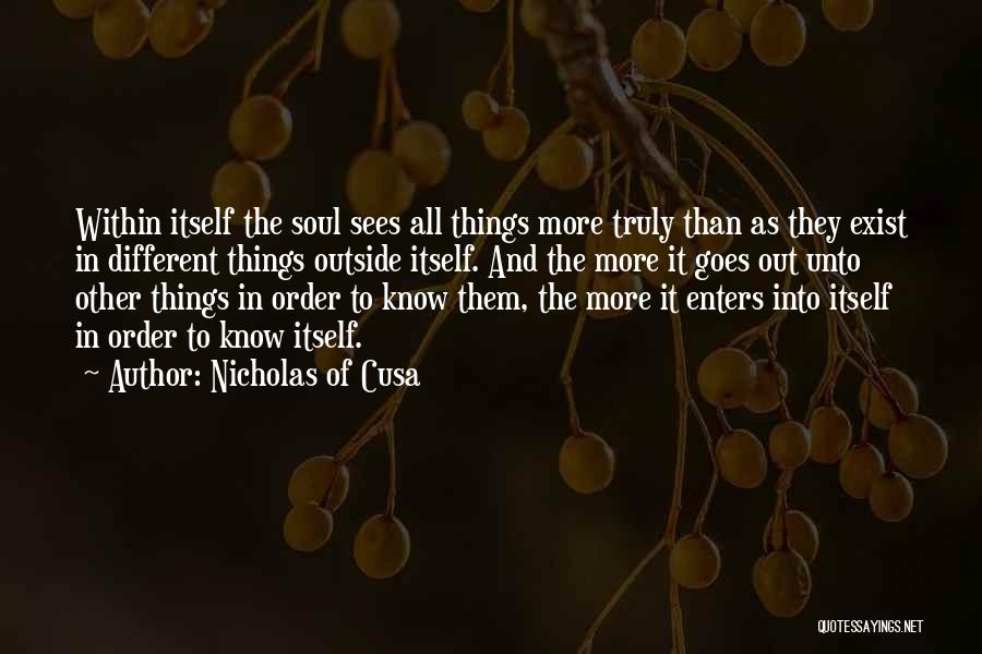 The Order Of Things Quotes By Nicholas Of Cusa