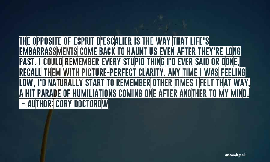 The Past Coming Back Quotes By Cory Doctorow