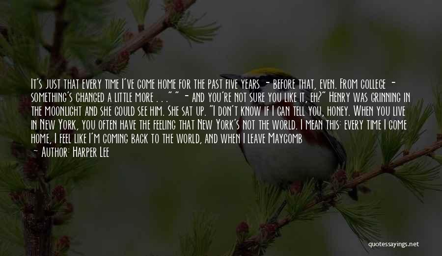The Past Coming Back Quotes By Harper Lee