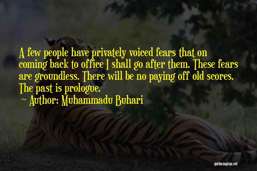 The Past Coming Back Quotes By Muhammadu Buhari