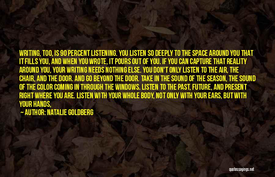 The Past Coming Back Quotes By Natalie Goldberg