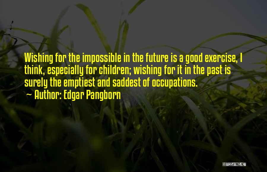 The Past Future Quotes By Edgar Pangborn