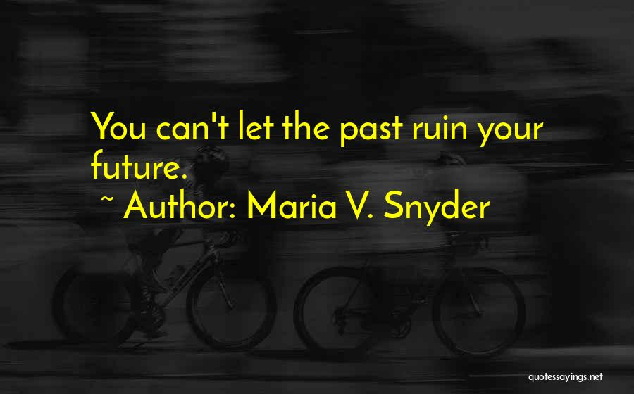 The Past Future Quotes By Maria V. Snyder