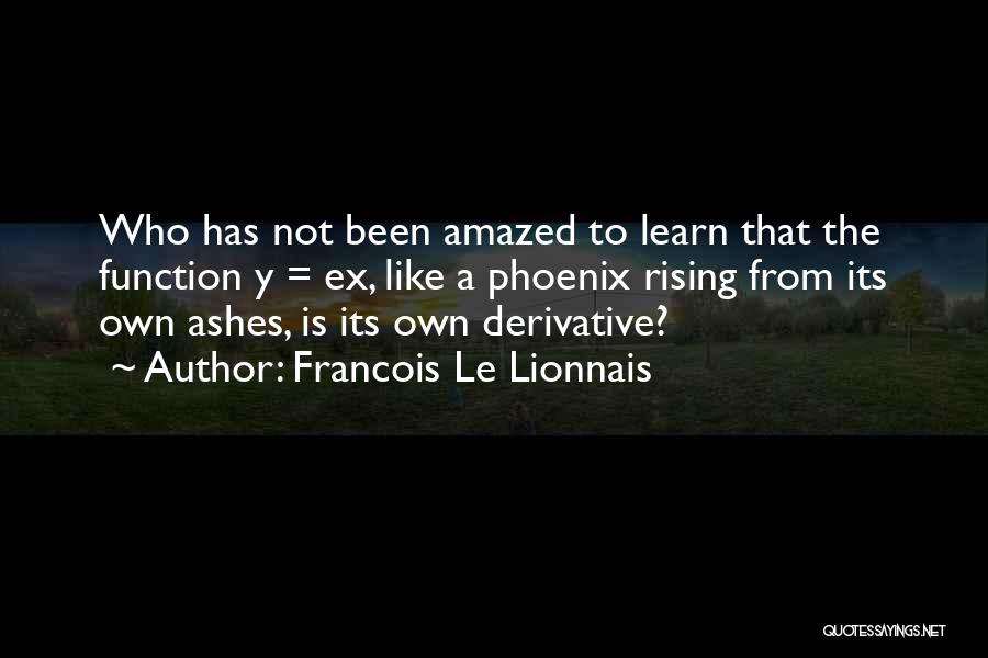 The Phoenix Rising From The Ashes Quotes By Francois Le Lionnais